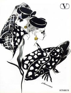 Valentino 1984 Fashion Illustrations Tony Viramontes