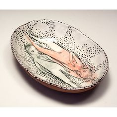 Original Jenny Mendes Painting on an Oval Hand by jennymendes $85.00