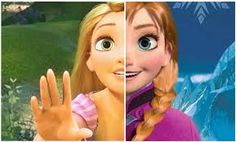 frozen princess anna - Google Search- If the person who made this has EVER picked up a pencil ,or animated on the computer, in their lifetime they would know that when drawing basic features (eyes, lips, nose, etc) usually come out around the same; unless something is PURPOSELY done to make them different. It was made by the same producers as Tangled so yes the STYLE will be the same. DISNEY ISNT JUST ONE ARTIST PEOPLE.