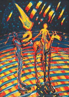 (1985) (plate) / (1985) (trykk). Fargelitografi på papir. ©Widerberg, Frans/BONO Venice Biennale, Impressionist, Surrealism, Art Gallery, Fine Art, Abstract, Artist, Image, Collection