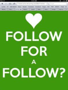 Follow for a follow?