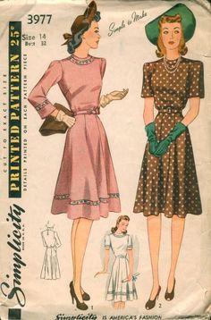 Simplicity 3977 c. 1941