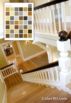 Chose beautiful golds from this Color911 color theme for the colors for this stairwell. Stunning! Color911.com - The best app for color inspiration! #Color911 #app #color