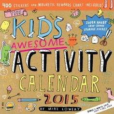 The Kid's Awesome Activity 2015 Wall Calendar