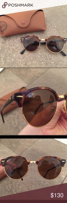 Ray Ban round tortoise shell sunglasses These tortoise shell sunglasses fit any face well and in very good condition. Ray-Ban Accessories Sunglasses