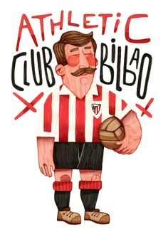Athletic Club Bilbao Art Print by Jorge Lawerta. Soccer Art, Soccer Poster, Football Soccer, San Mamés, Athletic Clubs, Logo Color, Cool Posters, Graphic Design Illustration, Illustrations Posters