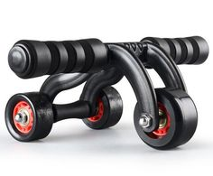 Olayer 3 Wheels AB Roller Fitness Equipment Professional New Style Abdominal - with difficult people friday deal Ab Roller, Roller Workout, Roller Sports, Effective Ab Workouts, Easy Workouts, At Home Workouts, Home Workout Equipment, Fitness Equipment, Fitness Mat