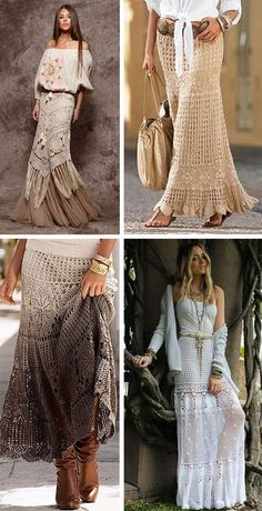 Knitted skirts: