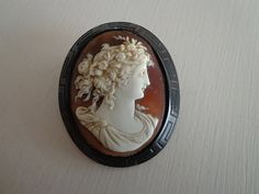 Fabulous Antique Victorian Cameo Whitby Jet Greek by TopShelfTampa, $450.00