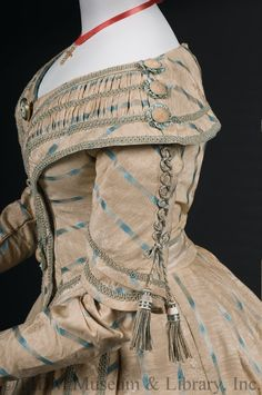 Fripperies and Fobs — Day dress, 1841-42 From the FIDM Museum