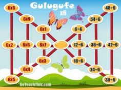 Multiplication Subtraction Games, Multiplication Games, Multiplication And Division, Rainbow Facts, Butterfly Games, Printable Math Games, Division Games, Addition Games, Learning Games