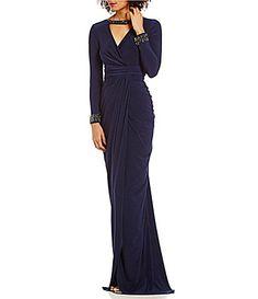 Adrianna Papell Beaded Bar VNeck Wrap Jersey Dress #DillardsAdrianna Papell Beaded Bar V-Neck Wrap Jersey Dress Item #04784318   (1 Review) $199.00 SIZE CHART  Size Color Midnight Quantity 1 color: Midnight