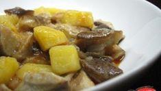 Tocanita de cartofi cu ciuperci Romanian Food, Pork, Beef, Broccoli, Ethnic Recipes, Salads, Pork Roulade, Meat, Pigs