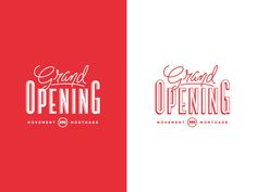 Grand Opening by Mandie Spear #typography
