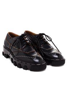 BALENCIAGA | Topstitch Derby Shoes