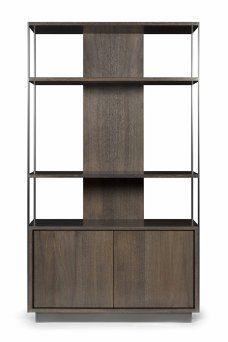 blackened oak bar/bookshelf