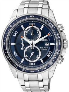 Citizen Eco Drive Super Titanium 100M Sapphire Japan Chrono Watch CA0346  59L  bafd599da6