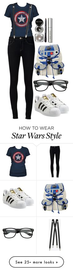 """""""embrace the inner Nerd"""" by chap15906248 on Polyvore featuring Ström, Yves Saint Laurent, adidas Originals, R2 and Bobbi Brown Cosmetics"""