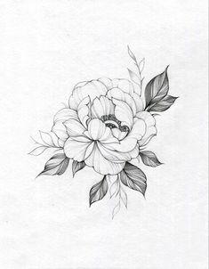 Flower Tattoo Drawings, Line Art Tattoos, Tattoo Design Drawings, Tattoo Sketches, Body Art Tattoos, Hand Tattoos, Rose Flower Tattoos, Cute Simple Tattoos, Unique Tattoos