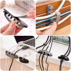 Digital Cables Consumer Electronics Radient 18 Pc Line Cord Wire Line Organizer Clips Fixer Fastener Tidy Holder Desk Wall Organizer Tie Fixer Organizer Line Clamp