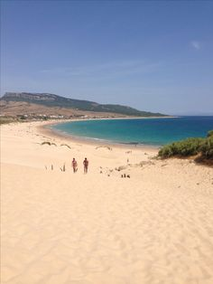 The sunning Bolonia beach of Tarifa, Spain!