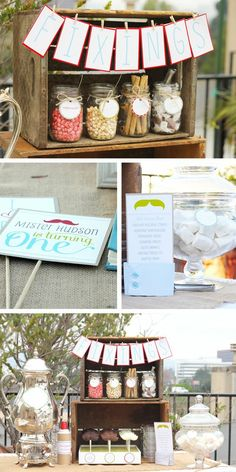 1st birthday mustache party - Click image to find more Kids Pinterest pins