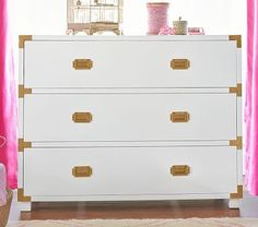 I have a white dresser. Buy hardware to transform it into this beautiful pottery barn dresser.