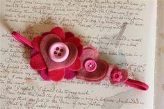 felt craft ideas | craft fair ideas / Cute felt hair band | We Heart It