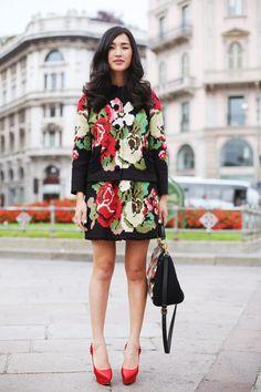 Nicole Warne wearing Dolce & Gabbana