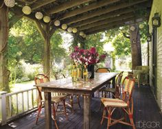 would love to have a table like this on a porch