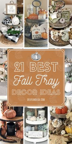 21 Best Tiered Tray Decor Ideas for Fall Inspiring ideas for decorating a tiered tray for fall. Thanksgiving Decorations, Seasonal Decor, Thanksgiving Ideas, Christmas Decor, Fall Vignettes, Tray Styling, Tiered Stand, Fall Table, Fall Diy
