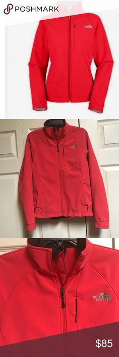 North Face Jacket -Apex Bionic Climate Block Very lightly used North face jacket. Beautiful bright color. Fits size M North Face Jackets & Coats
