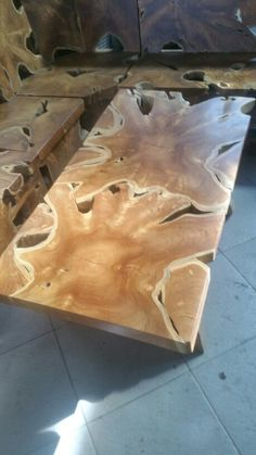 Teak root slab coffee table. Looking for recycled teak root furniture? We can assist you! visit ===>> www.xplorejepara.com