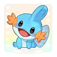 I smile when I think of you Pokemon Sketch, Pokemon Fan Art, Cool Pokemon, Rayquaza Pokemon, Mudkip, Cute Animal Drawings, Cute Drawings, Baby Pokemon, Pokemon Dragon