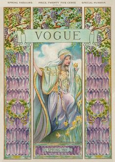 Photograph - A Vintage Vogue Magazine Cover Of A Woman by Artist Unknown Vintage Vogue Covers, Vogue Magazine Covers, Vintage Magazines, Fashion Magazines, Cover Art, Giclee Print, Art Print, Poster Prints, Posters