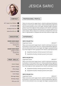 Chronological Resume Template, Microsoft Word Resume Template, One Page Resume Template, Microsoft Word Free, Modern Resume Template, Resume Templates, Cv Template, Functional Resume Template, Portfolio Web