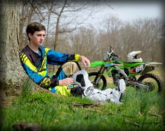 Daniel's senior pictures. Class of 2015. Love of motocross  #graduation #senior…