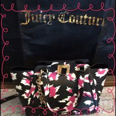 "JUICY  BAG, ""HOST PICK"" WILD THING LEATHER BAG .. BY JUICY .. CLASP CLOSURE.. GOLD TONE HARDWARE .. INCLUDES DUST BAG..NWT.. 12' wide X 7' wide X 5' deep drop length 21' LONG STRAP IS LEATHER WITH CHAIN.. ZIPPER POCKET INSIDE..GURL POWER FASHION HOST PICK5-2-2015 Juicy Couture Bags"
