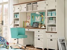 Discover Pottery Barn Teen's study desk ideas to create the perfect space for homework, projects, and more. Declutter your study area with stylish storage ideas and desk inspiration. Study Rooms, Study Space, Desk Inspiration, Teen Bedding, Office Cabinets, Pottery Barn Teen, Pbteen, Decorate Your Room, Dorm Rooms