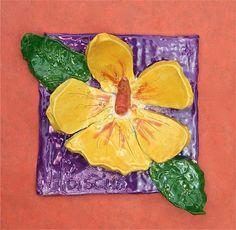 Artsonia Art Museum :: Artwork by Saloni25, state flower tile