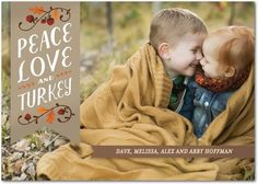 The Important Things - Thanksgiving Photo Cards - Petite Alma - Walnut - Brown : Front