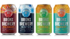 Bronx Brewery's Seasonal Range Comes With a Bold Color Scheme Food Packaging Design, Beverage Packaging, Bottle Packaging, Packaging Design Inspiration, Food Branding, Coffee Packaging, Branding Design, Label Design, Root Beer