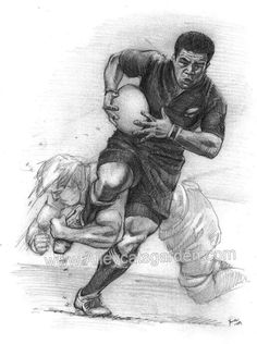 Cartoon Painting, Rugby Players, Art Drawings, Drawing Art, Printmaking, Animation, Golf, Sport, Balls