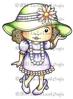 Dress Up Marci Rubber Stamp