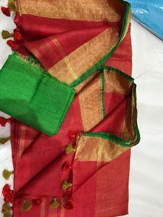 Exclusive pure lenin sarees - Elegant Fashion Wear