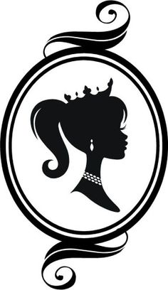 princess in a ponytail vinyl wall graphic could do a specific identifiable girls silhouette with a princess crown