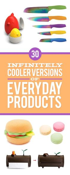 30 Ingeniously Designed Versions Of Everyday Products and how to make or where to buy Some super cool things Cool Gifts, Unique Gifts, Treat Yourself, Make It Yourself, Palette Organizer, Pure Genius, Take My Money, Cool Inventions, Things To Buy