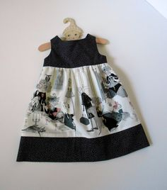 Baby Girl Toddler Sun Dress Pinafore Jumper Halloween Alexander Henry Ghastlies Size 2T Ready to Ship. $40.00, via Etsy.