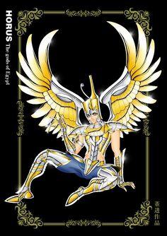 Image - Horus the god of Egypt - saint-seiya-word Sacred Saga, Asgard, Fan Art, Greek Gods, Greek Mythology, Anime Comics, Fantasy Characters, League Of Legends, Cover Art
