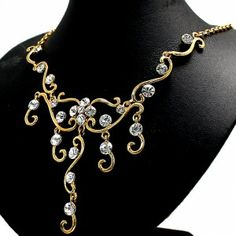 Banquet Wedding Use ! Crystal with Gift Box Earring Necklace Set NS1529